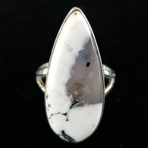 NWT .925 Sterling Silver Dendrite Opal Ring